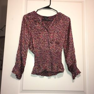 Moda International silky floral blouse 👚